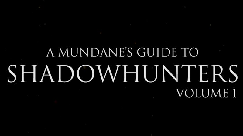 Shadowhunters - Four Shadowhunters Terms You HAVE To Know! - Thumb