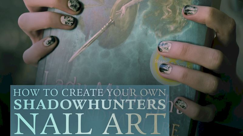 Shadowhunters - Create The Perfect Shadowhunters Manicure with This Nail-Art Tutorial! - Thumb