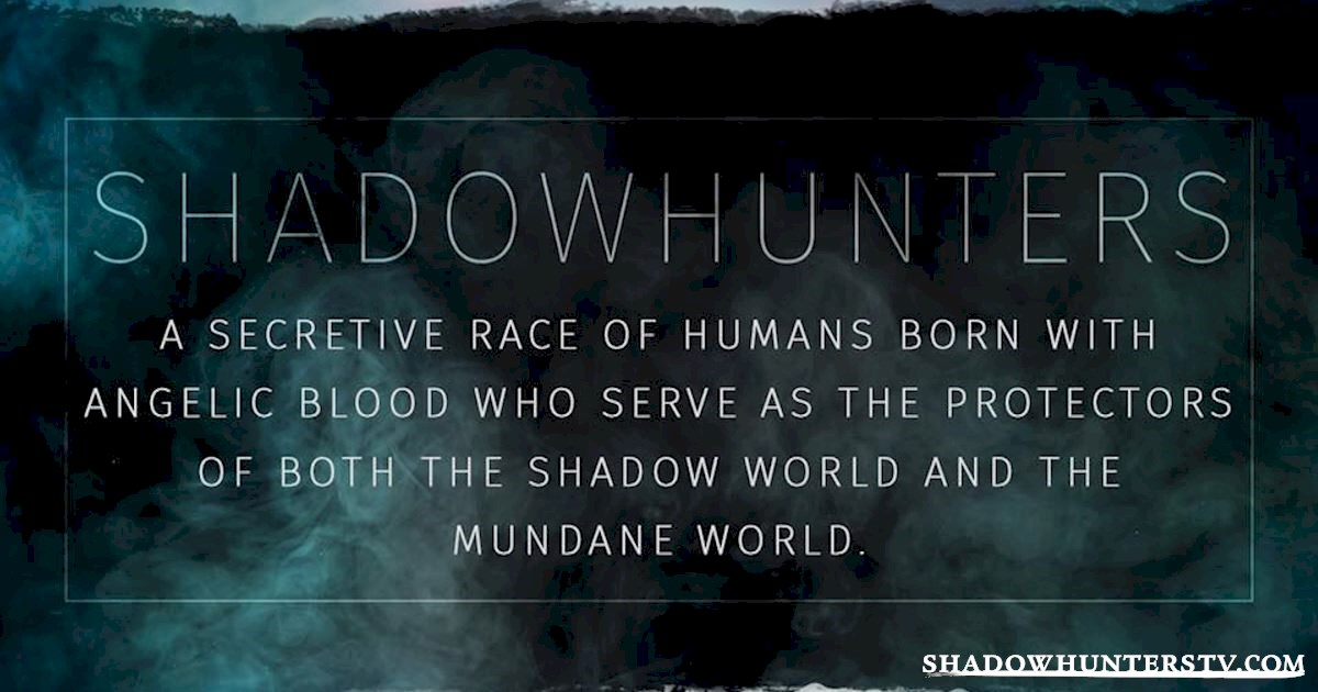 Shadowhunters - The Shadowhunters Jargon Buster - 1007