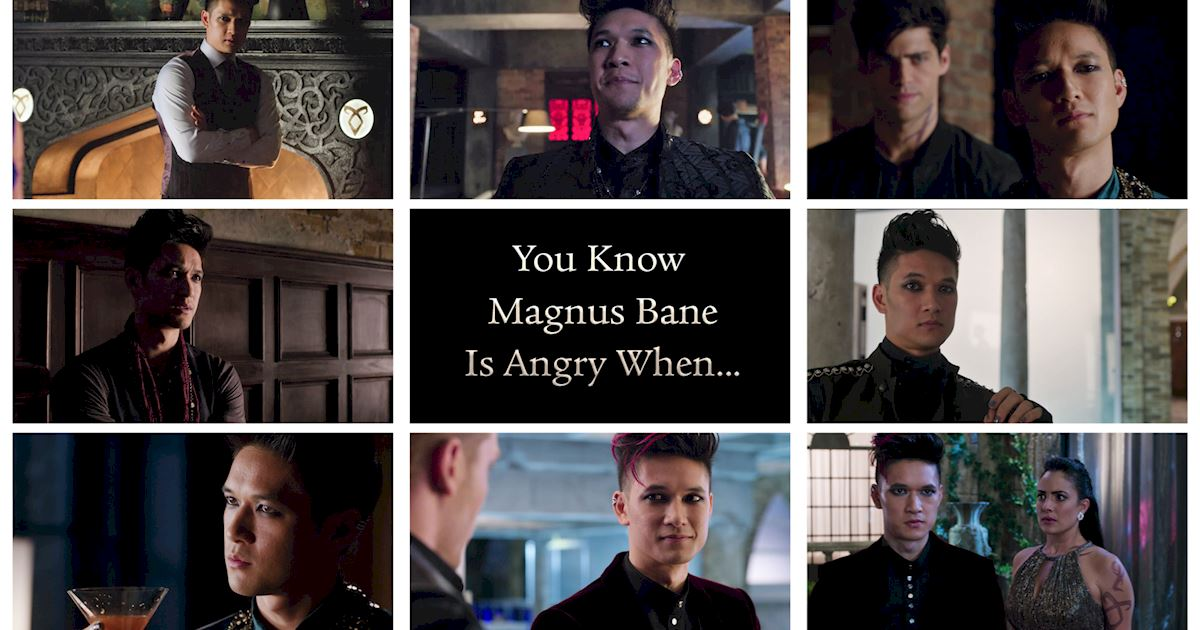 Shadowhunters - You Know Magnus Bane Is Angry When... - 1001