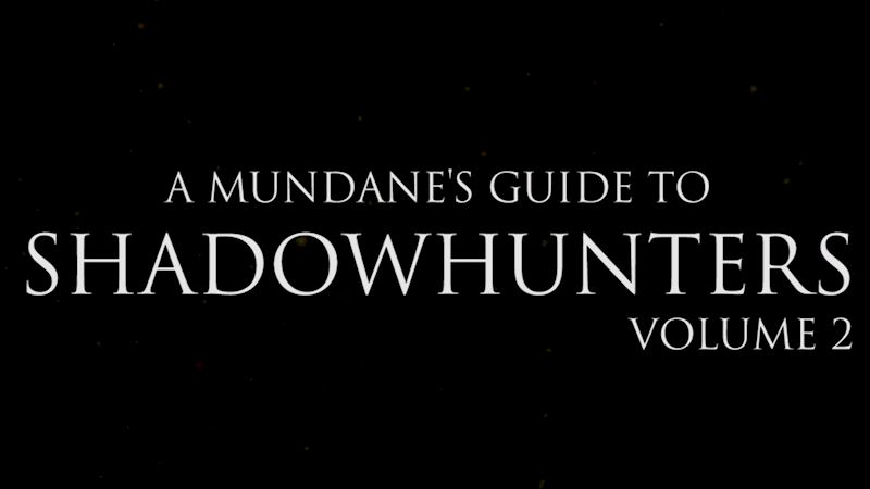 Shadowhunters - Shadowhunter Terms You Must Know! Next Level!  - Thumb